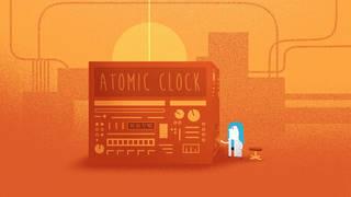 Artist's concept of atomic clock