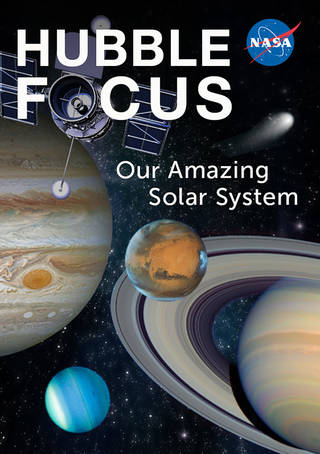 magazine cover with jupiter, saturn, planets