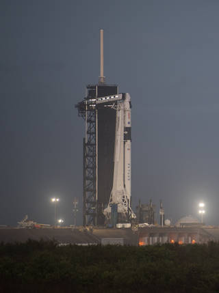 SpaceX Falcon 9 rocket with the Crew Dragon spacecraft for the Crew-1 mission