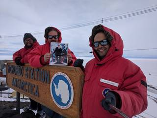 Image of the selfie snapped from McMurdo Station.