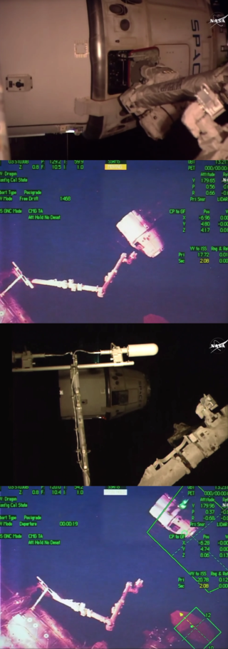 SpaceX Dragon resupply craft departs the International Space Station