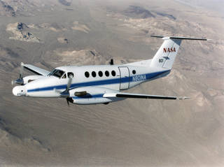 A NASA King Air successfully tested the Advanced Data Acquisition and Telemetry System during a recent series of three flights.