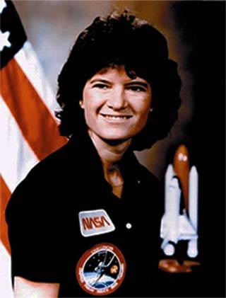 Sally Ride's official astronaut portrait