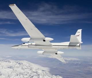 NASAs high-altitude ER-2 research aircraft