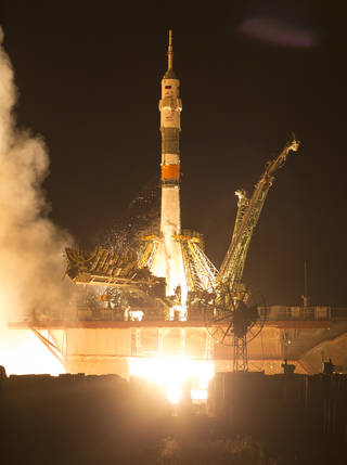 Soyuz MS-13 rocket launches with Expedition 60 crew