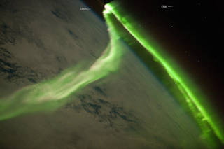 Aurora Australis Observed from the International Space Station.