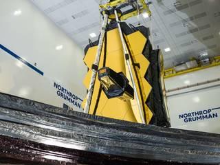 James Webb Space Telescope from below