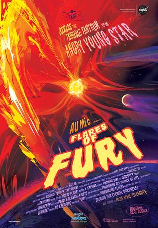 Horror movie poster: AU Mic's Flares of Fury