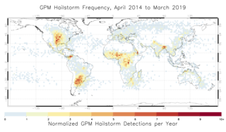 Climatology of annual frequency of hailstorms