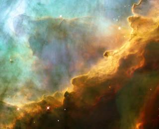 region of M17 seen by Hubble