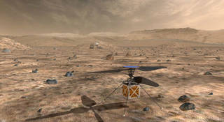 Artist concept of NASA's Mars Helicopter.