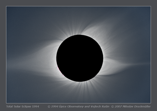 Eclipse image displaying a helmet streamer
