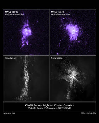 Hubble observations of gas density compared to computer simulations