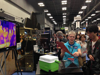 NASA's Colleen Quinn-House explains how the Webb telescope will see in infrared light at the NASA Booth, SXSW 2015.
