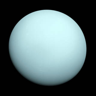 pale-blue view of Uranus, seen by Voyager 2