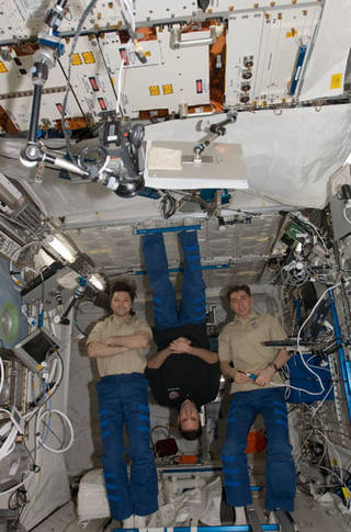 Pictured Here Are Members Of The 17th Crew To Live Aboard Space Station