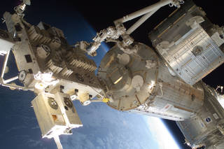The Japanese Experiment Module, includes an external platform for payloads, an airlock and a robotic arm.