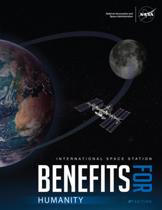 Cover of the book, International Space Station Benefits for Humanity, 3rd Edition