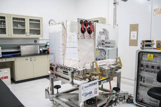A view of ASIM being prepared for launch.