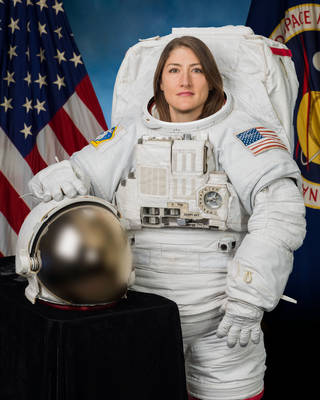 Official portrait of NASA astronaut Christina Koch
