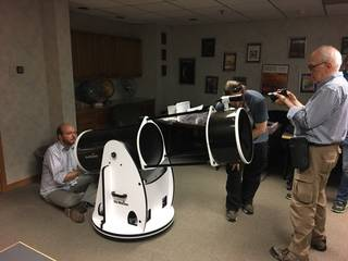 New Horizons team members prepare one of the new 16-inch telescopes for deployment to occultation observation sites