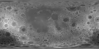 map with craters in monochrome