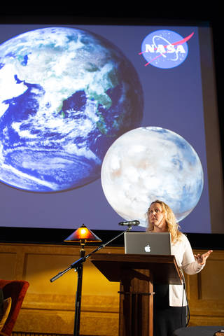 Lindsay Hays is an astrobiologist at NASA who is interested in the idea of looking for fatty acids called lipids beyond Earth.