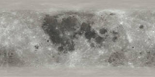 rectangular map of the Moon