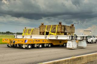 New Rocket Stage Transporters Delivered to NASA's Michoud Assembly Facilty