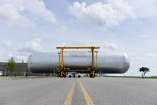 Moving the SLS Liquid Hydrogen Tank Structural Test Article