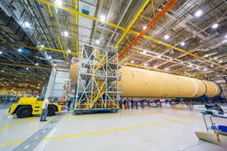 NASA Finishes Assembly of Core Stage Structure