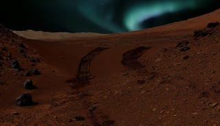 Aurora eller nordlys på Mars