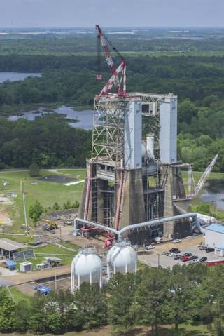 Test Stand 4670, at NASAs Marshall Space Flight Center in Huntsville, Alabama