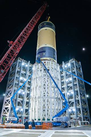 SLS Core Stage Test Will Complete Artemis Rocket Structural Test Campaign