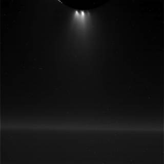 Unprocessed view of Saturn's moon Enceladus