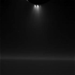 Unprocessed view of Saturn's moon Enceladus