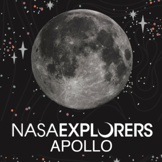 Image of Moon with NASA Explorers: Apollo text