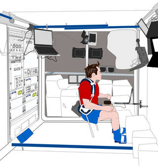 This illustration shows the configuration for conducting neurocognitive assessments for the Neuromapping study