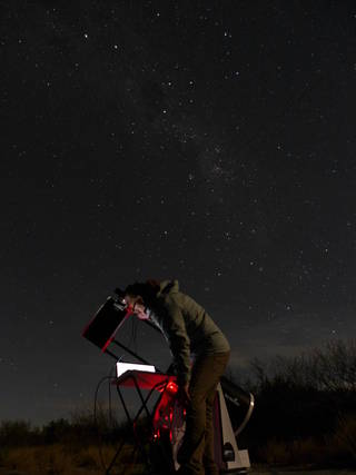 In Argentina, New Horizons scientist Alex Parker sets up to begin collecting data on the stellar occultation of 2014 MU69.