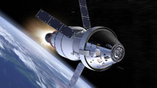 artist concept of Orion vehicle