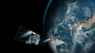satellite with Earth in background
