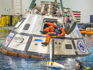 Suni Williams exits a test version of Orion
