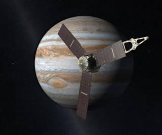Artist concept of Juno and Jupiter