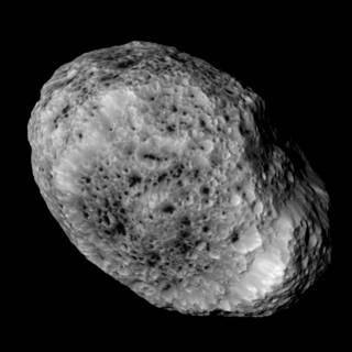 Nærbillede af Saturnmånen Hyperion