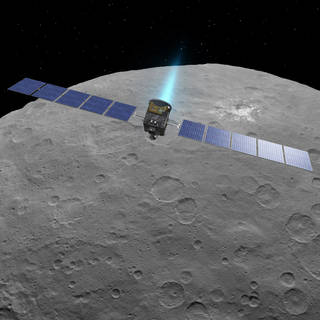 Artist's impression, Dawn at Ceres (NASA/JPL)