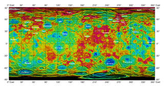 Topographic Ceres map