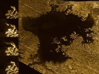 Radar images from Cassini