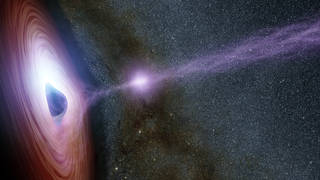 A supermassive black hole is depicted in this artist's concept