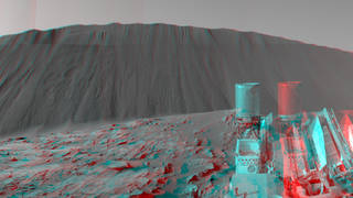 Downwind Side of 'Namib' Sand Dune on Mars, Stereo