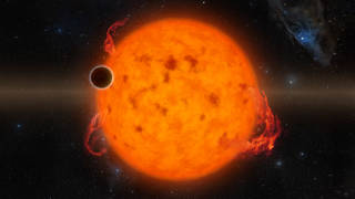 K2-33b, shown in this illustration, is one of the youngest exoplanets detected to date